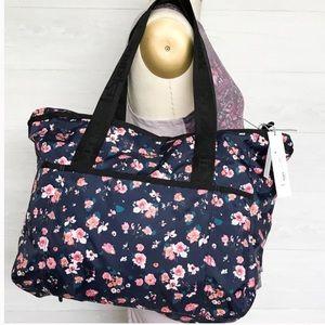 Lesportsac Candace Zip-Top Nylon Tote Bag w/ Pouch